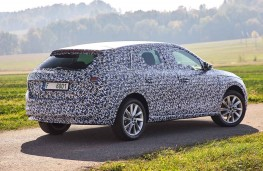 Camouflaged Skoda Scala rear static