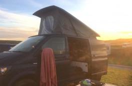 VW Transporter T28 T6 Highline camper, side view