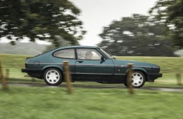 Ford Capri 2.8, 1986, side, action