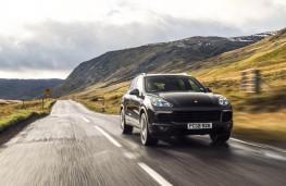 Porsche Cayenne S Diesel, front, action
