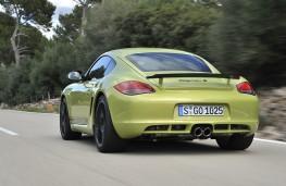 Porsche Cayman R, rear, action