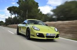 Porsche Cayman R, front, action