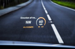 Mercedes C-Class, head up display