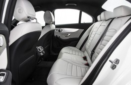Mercedes C-Class, rear seats
