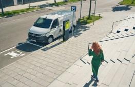 Volkswagen ABT eTransporter 6.1, 2020, charging