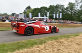 Cholmondeley Power and Speed 2016, Ferrari FXX, action