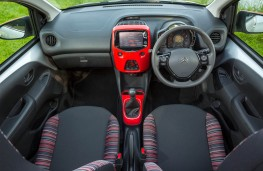 Citroen C1, interior through roof