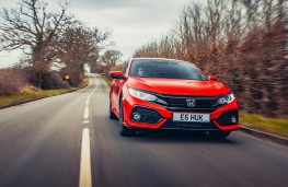 Honda Civic 1.0 VTEC, 2017, front, action