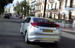 Honda Civic, 2017, rear, action