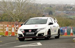 Honda Civic Type R GT, front, action, hill climb