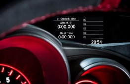 Honda Civic Type R, lap timer