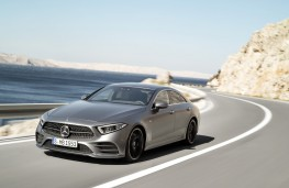 Mercedes-Benz CLS, 2018, front, action