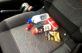 Hot weather hazards inside car