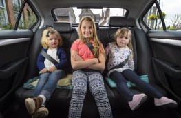 Company car choice, children in rear seat
