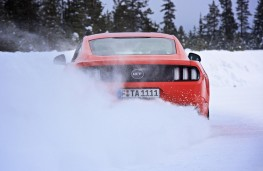 Continental Tyres winter testing, 2018, Ford Mustang, rear