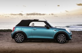 MINI Cooper Convertible, 2016, side, roof up