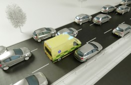 Emergency situation driving, 2020, ambulance in emergency corridor