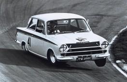 Jim Clark driving Ford Lotus Cortina