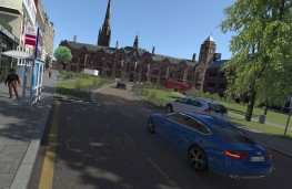 Simulated scene of Coventry city centre