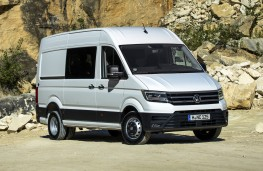 Volkswagen Crafter, 2017, front, static, quarry