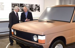 The Range Rover Story, Roger Crathorne (right) and clay model