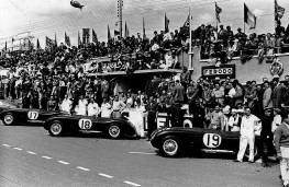 Jaguar C-Type, winning team at Le Mans, 1953