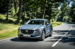 Mazda CX-30, 2019, front, action