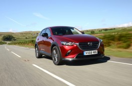 Mazda CX-3 Sport Black, 2018, front, action