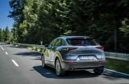 Mazda CX-30, 2019, rear, action
