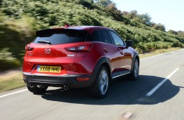 Mazda CX-3 Sport Black, 2018, rear, action