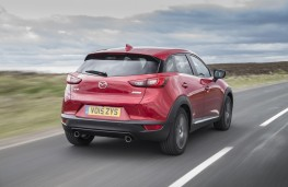 Mazda CX-3, red, rear