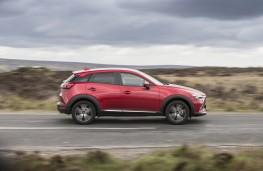 Mazda CX-3, red, side