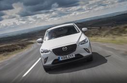 Mazda CX-3, white, front