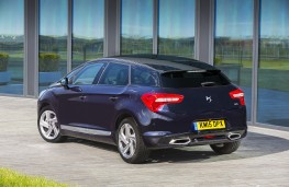 DS 5, blue, rear, static