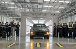 Aston Martin DBX production, 2020, first car off the line