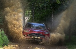 Aston Martin DBX, 2020, off road, front, water