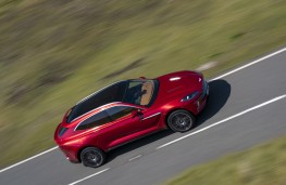 Aston Martin DBX, 2020, side, overhead