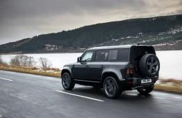 Land Rover Defender 110 V8, 2021, rear, action