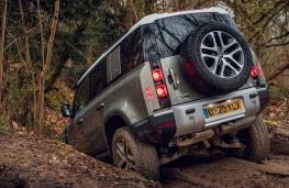 Land Rover Defender, 2020, off road, mud, rear