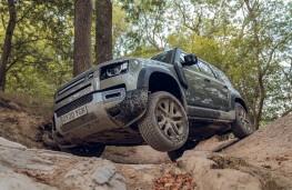 Land Rover Defender, 2020, off road, rocks