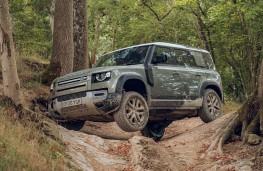 Land Rover Defender, 2020, off road, side, mud