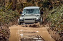 Land Rover Defender, 2020, off road, water, front