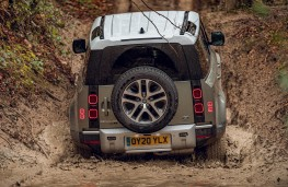 Land Rover Defender, 2020, off road, water, rear