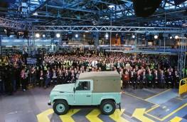 Land Rover Defender, final model, crowd