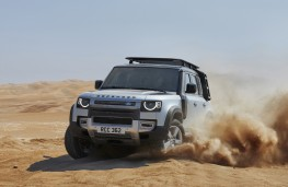 Land Rover Defender, 2019, front, action