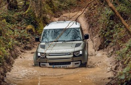 Land Rover Defender, 2020, front, water