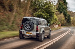 Land Rover Defender, 2020, rear, on road