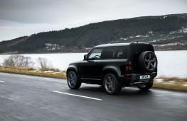 Land Rover Defender 90 V8, 2021, rear, action