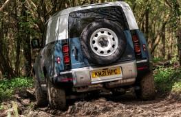 Land Rover Defender 90 Hard Top, 2021, rear, off road