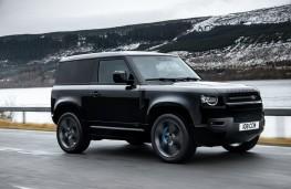 Land Rover Defender 90 V8, 2021, side, action